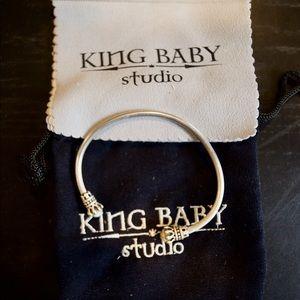 King Baby Mens Sterling Silver cuff bracelet